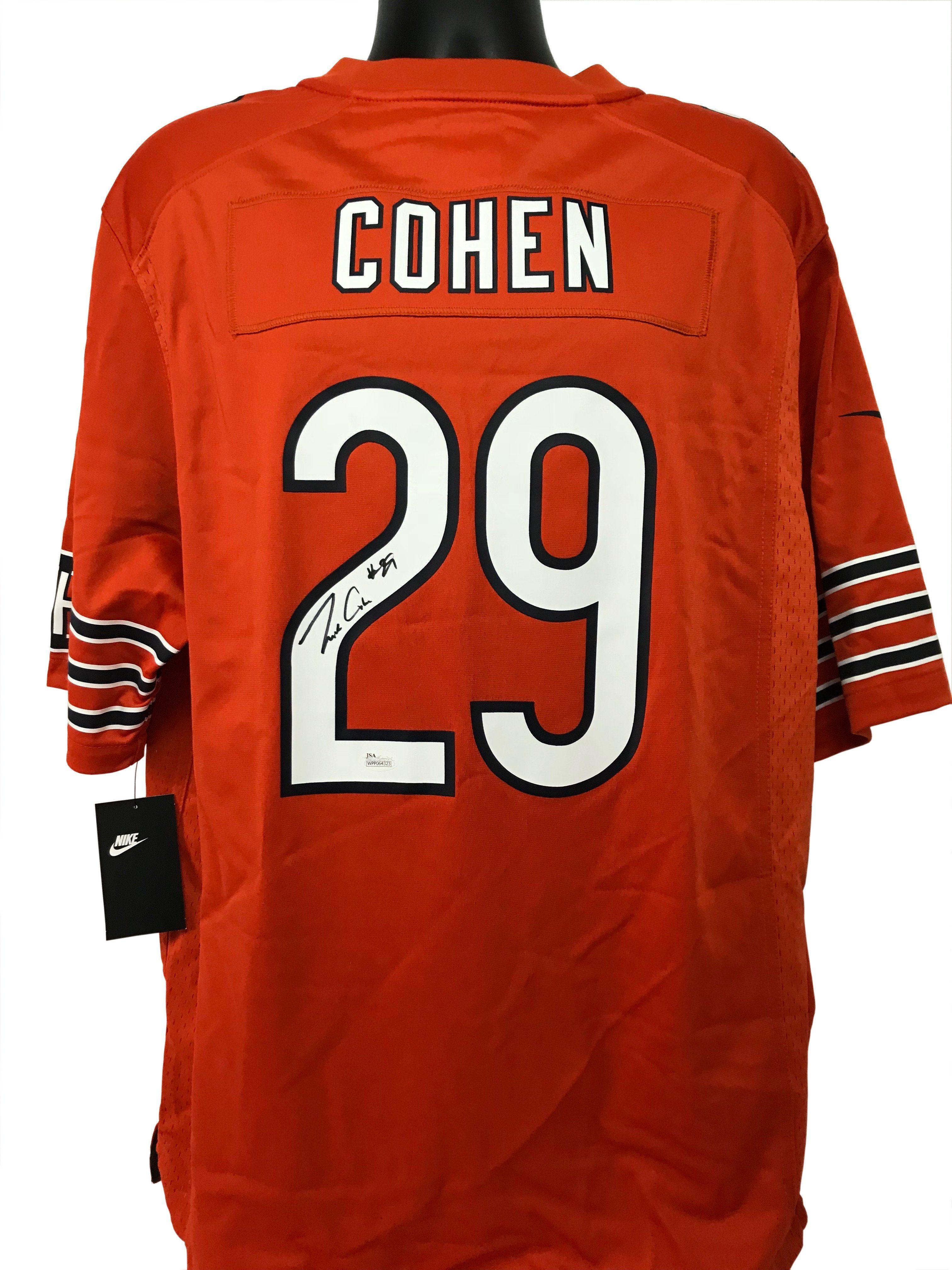 best sneakers 8eb12 349ab Tarik Cohen Autographed Chicago Bears Orange Nike Jersey w ...