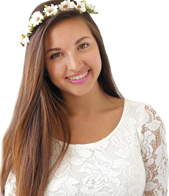 Daisy Flower Headband Wreath Boho Garland Perfect For Wedding