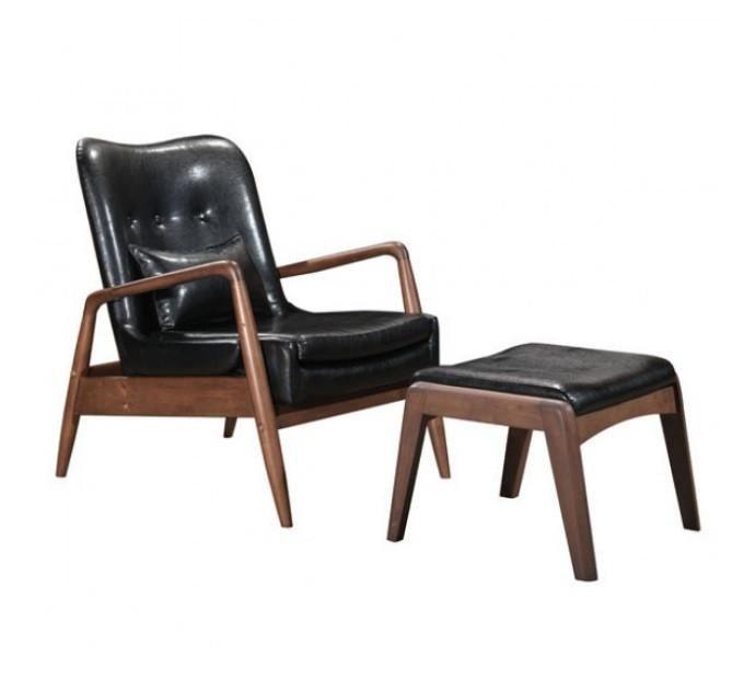 Lee Lounge Chair Amp Ottoman Black Chair Ottoman Set