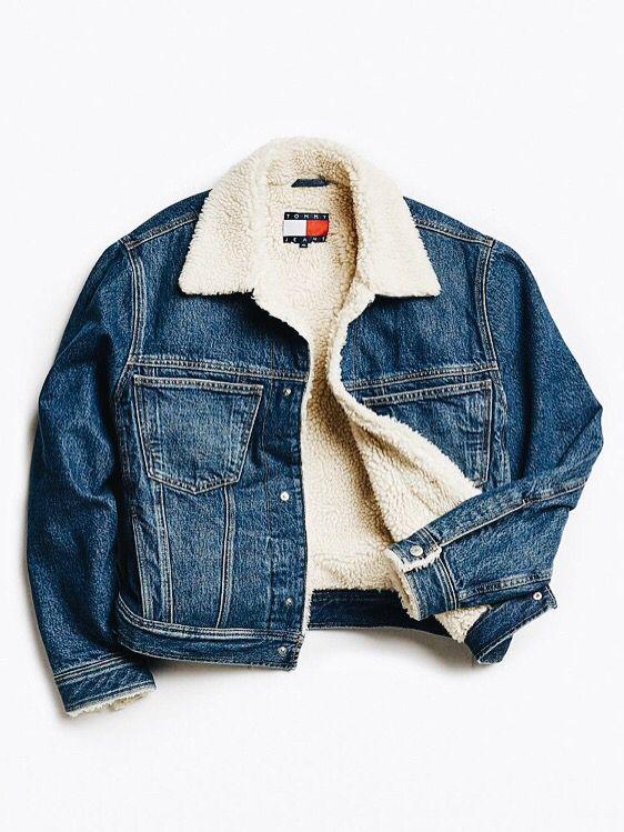Essence Of The American Style Hilfiger Denim Jacket Clothes Fashion Furry Jacket