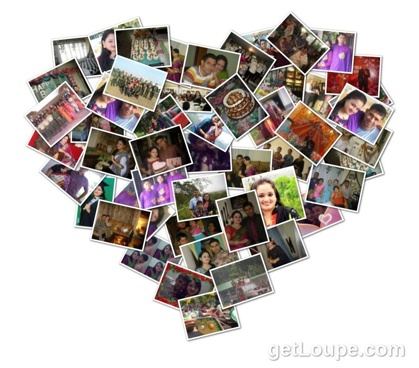 loupe collage HEART