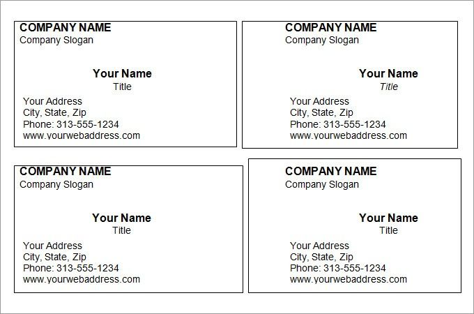 Free Printable Business Card Templates Cards Template Blank Make Your Own By Www Bowerby Choose Whether You Want To