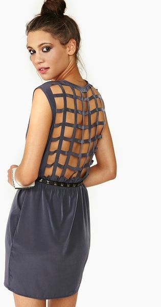 Loving this Caged Wrap Dress! @NastyGal