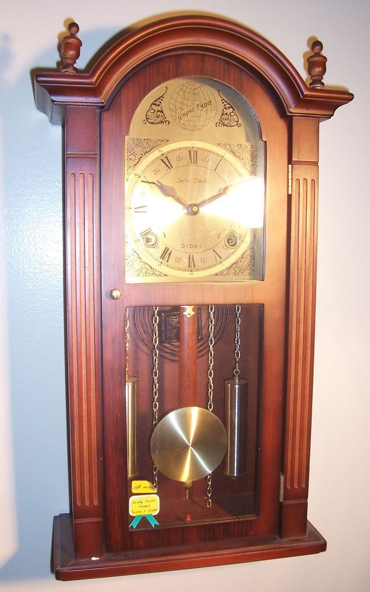 Daniel dakota 31 day key wind up wood grandfather wall pendulum daniel dakota 31 day key wind up wood grandfather wall pendulum chime clock in collectibles clocks modern amipublicfo Image collections