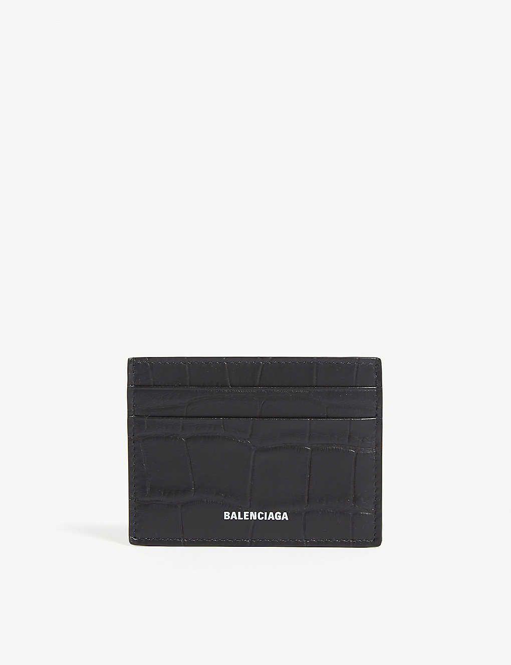 Logo Croc Embossed Leather Card Holder Card Holder Leather Card Holder Embossed Leather