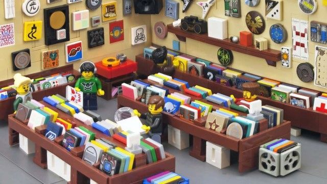 lego record shop photo credit: Ryan Howerter