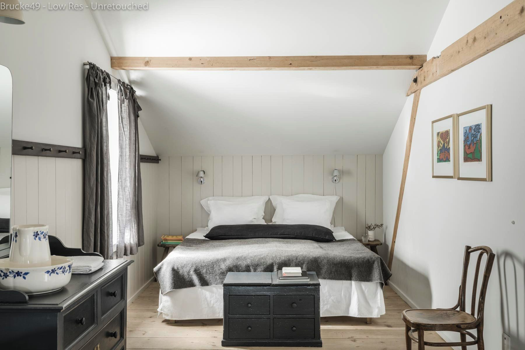 Bedroom interior roof brücke  valser room is on the top floor and stretches from the