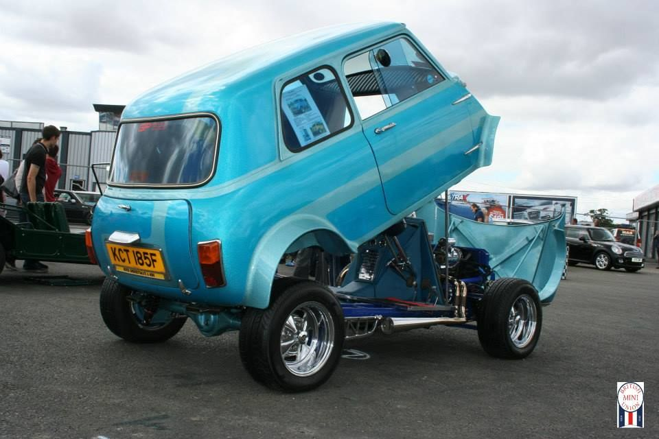 hot rod mini with a v4 in it mini cooper pinterest. Black Bedroom Furniture Sets. Home Design Ideas