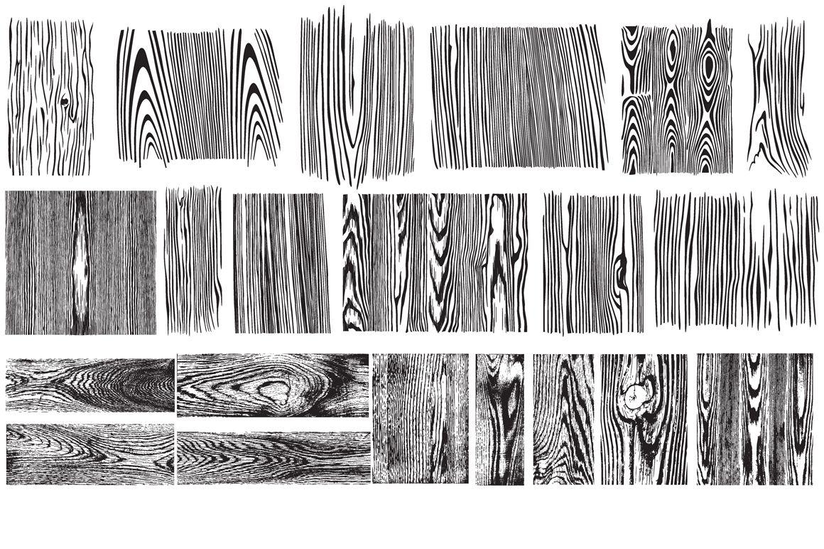 Wood Grain Vector Pack | Wood grain vector, Texture vector ...