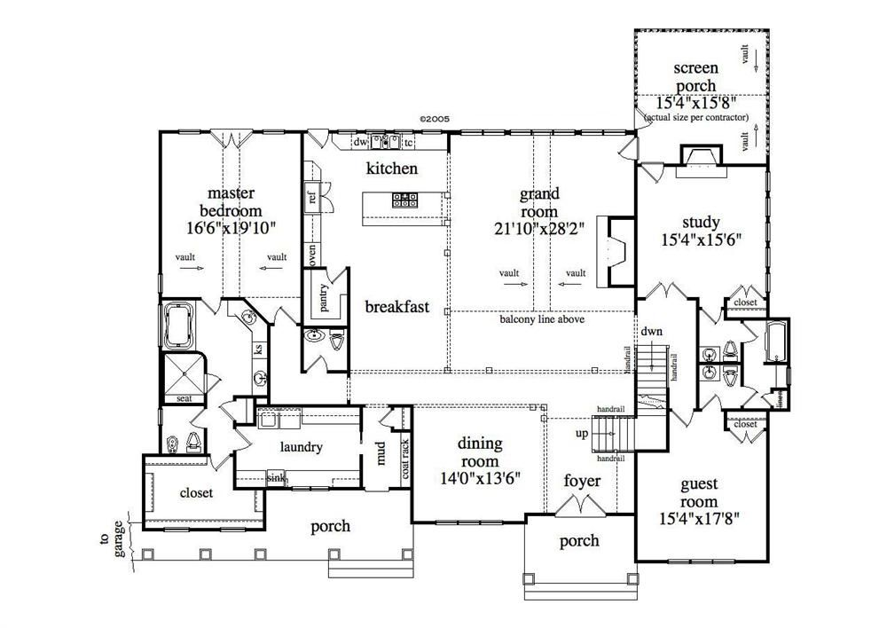 Floor Plan First Story Basement House Plans One Level House Plans Basement Floor Plans
