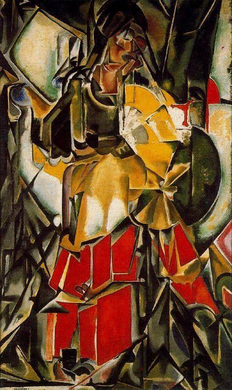 María Blanchard, Mujer con abanico, 1916 Arte abstrata