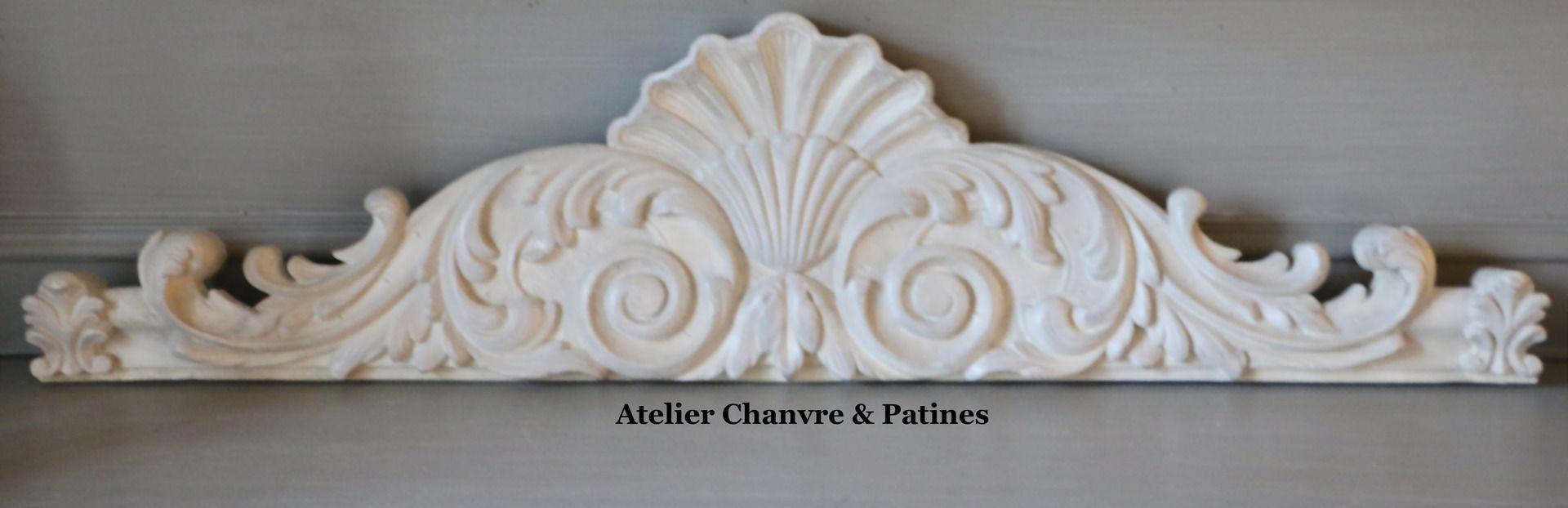 decoration murale dessus de porte fronton patin ivoire d corations murales par atelier. Black Bedroom Furniture Sets. Home Design Ideas