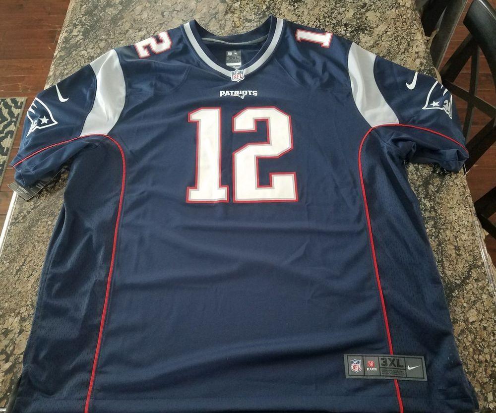 9ecbed9dba6 NIKE TOM BRADY On Field New England Patriots Jersey Size XXXL 3X 678408 419  #Nike #NewEnglandPatriots
