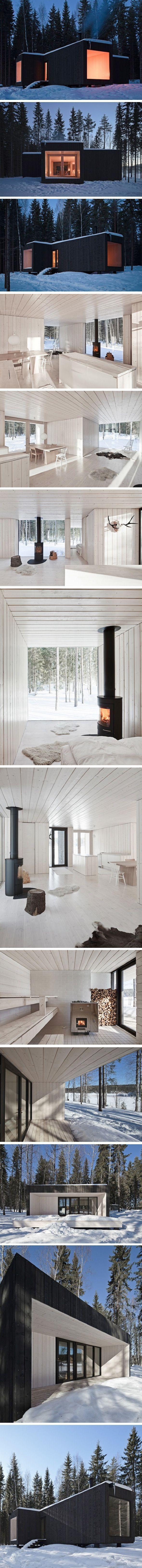 Fourcornered villa par avanto architects villa en croix en finlande