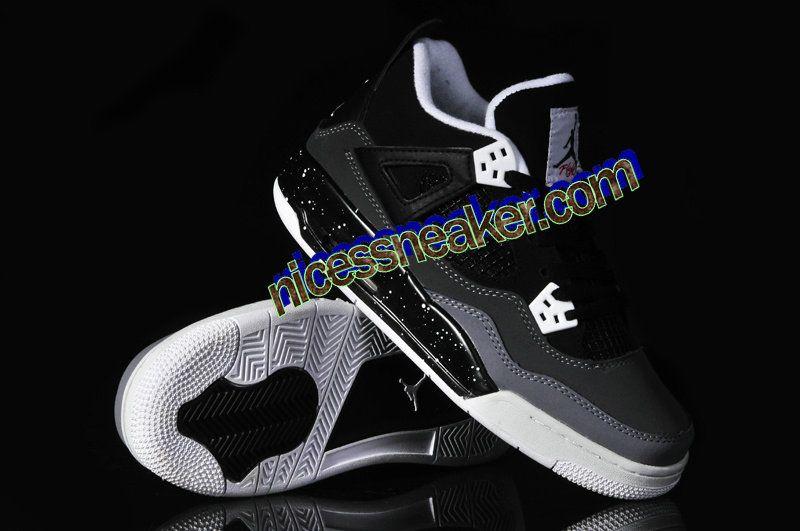 6c157ddb32ba Save Up To 61% Air Jordan 4 Oreo Womens Cement Black Dark Grey White Black   Womens  Sneakers