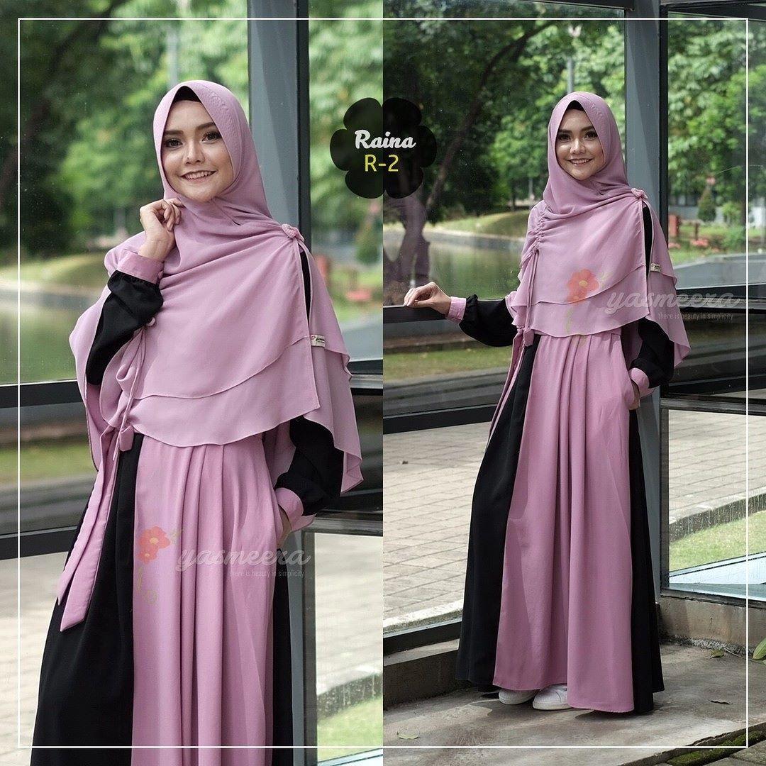 Gamis Yasmeera Raina Dress R2 Baju Gamis Wanita Busana Muslim Untukmu Yg Cantik Syari Dan Trendy Material Bun Muslim Fashion Hijab Fashion Abaya Fashion