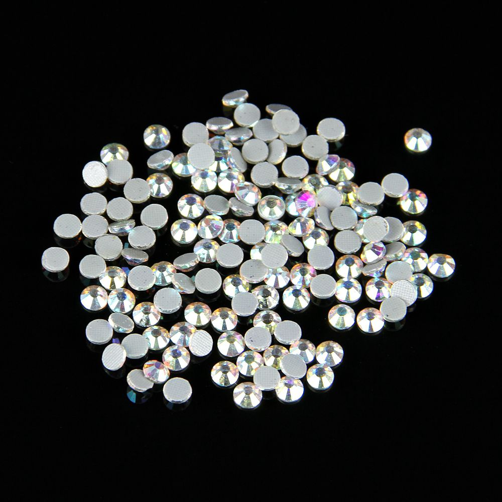 Free Shipping  Buy Best 100Gross SS20 (4.6-4.8mm. RhinestonesSewingAbs CrystalCraftsGlassesColorsLink. ) AB Color Crystal DMC Flatback Hot Fix ... 7a8e2ea08968