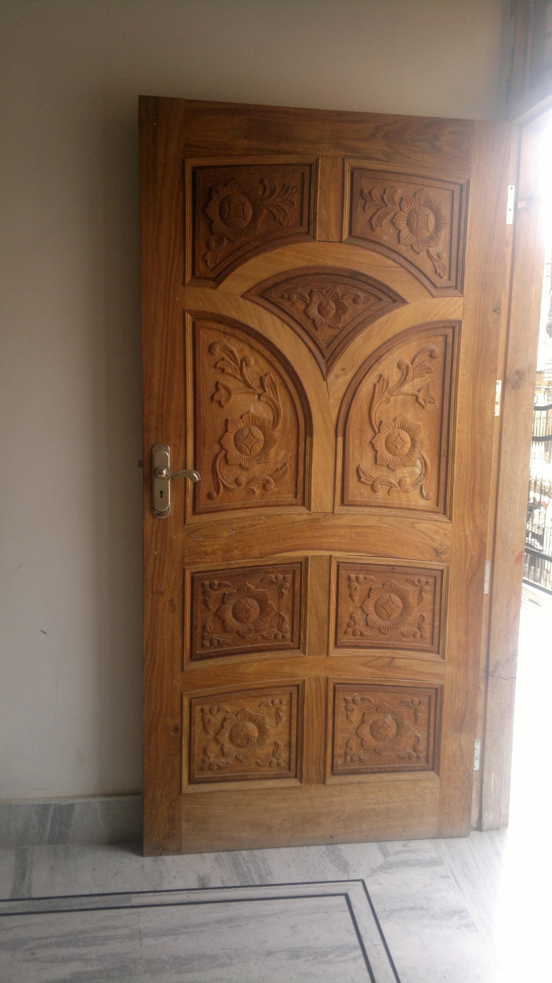 Single Wooden Door Design Gharexpert Wooden Door Design Single Wooden Door Designs House Main Door Design