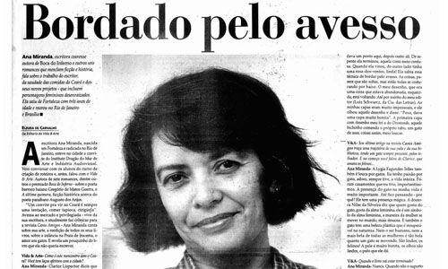 Ana Miranda (entrevista: Eleuda de Carvalho)