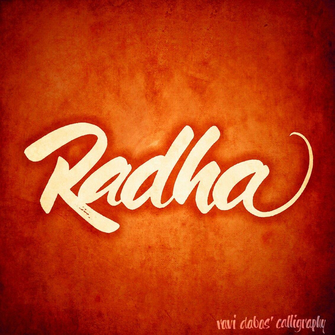 Radha Radha Calligraphy Handlettering Handwritten Freehand