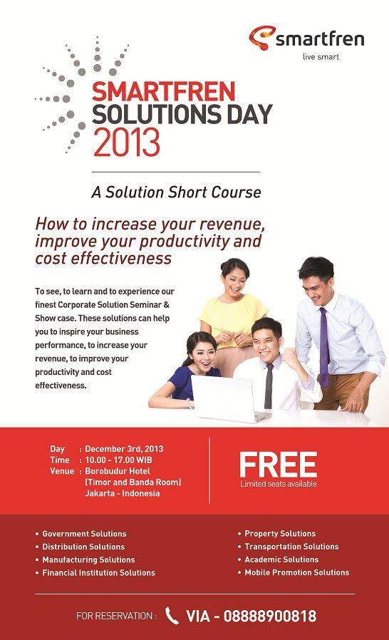 Smartfren Solution Day A Seminar Showcase To Increase Your