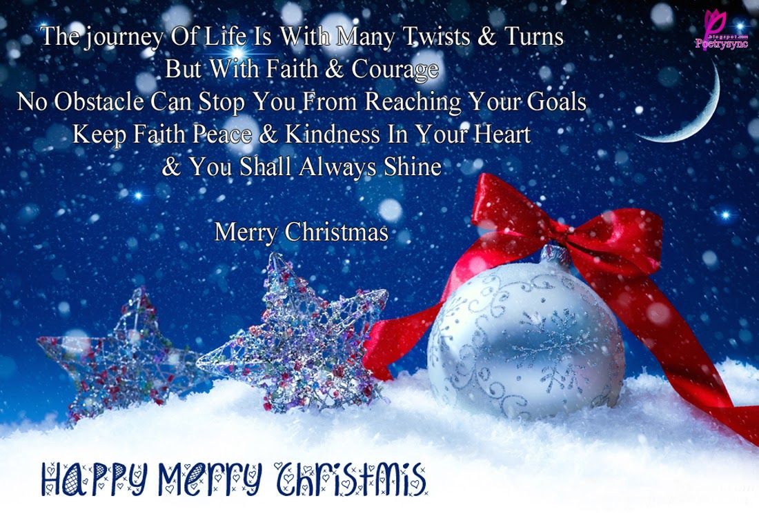 Merry Christmas Greetings Card And Quote Message Images Happy