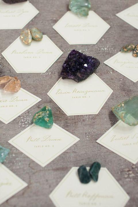 57 Trendy And Chic Geode Wedding Ideas
