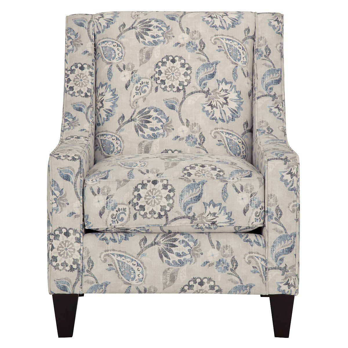 Sylvie Blue Fabric Accent Chair Condo Living Room Pinterest