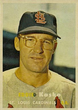 1957 Topps Eddie Kasko #363 Baseball Card