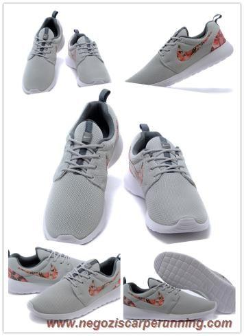 Nike Roshe Run 2015 Teal Grigio/Atomic Arancione 512881-009 Uomo-Donna migliori scarpe da calcetto