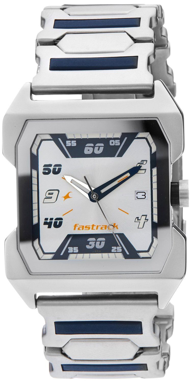 cc7140044 Buy Fastrack Party Analog White Dial Men s Watch - NE1474SM01 Online at Low  Prices in India - Amazon.in