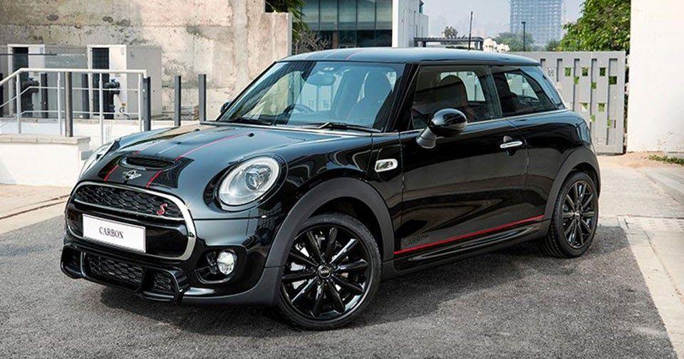 Mini Releases New Cooper S Carbon Edition Via Amazon India Carscoops Black Mini Cooper Mini Cooper Sport Mini Cooper S