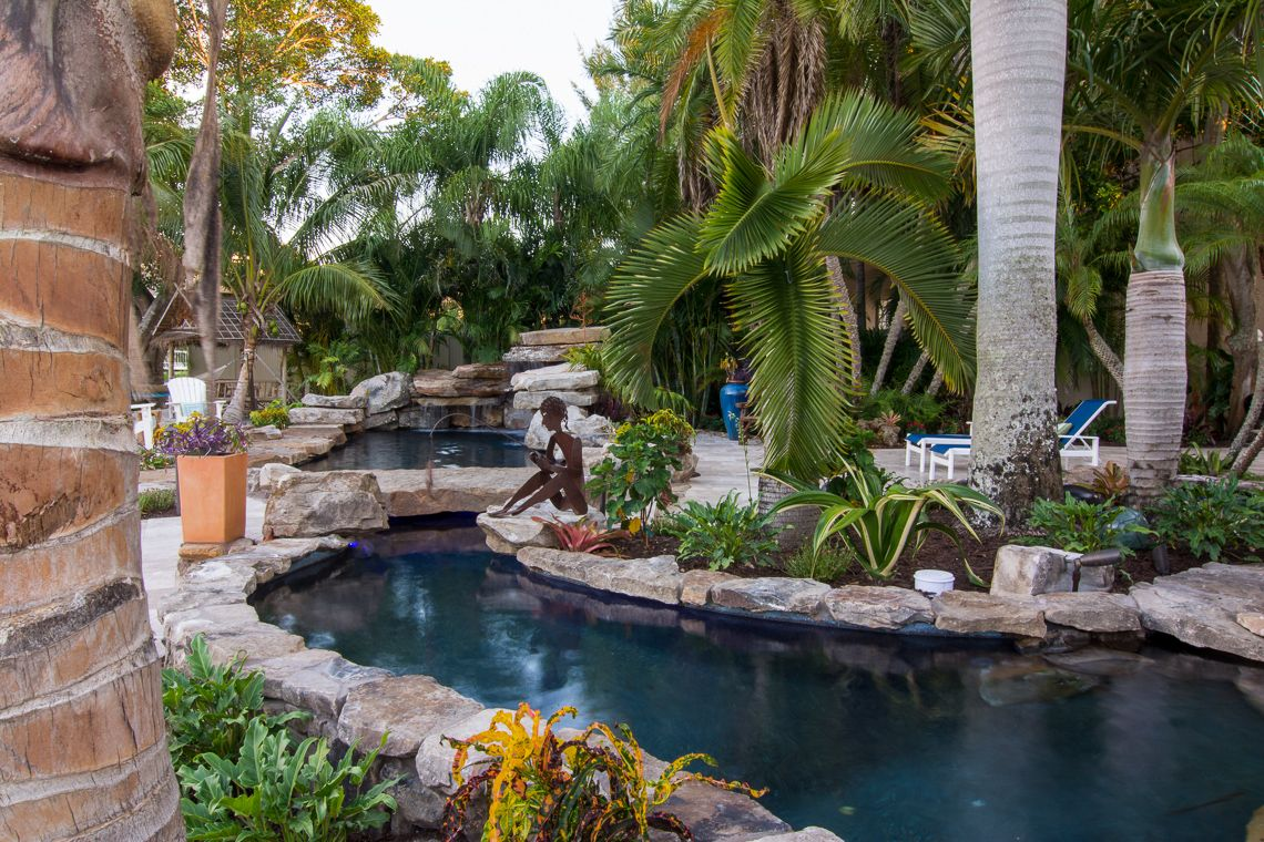 Lucas lagoons insane pools pool with koi pond this is for Pool with koi pond
