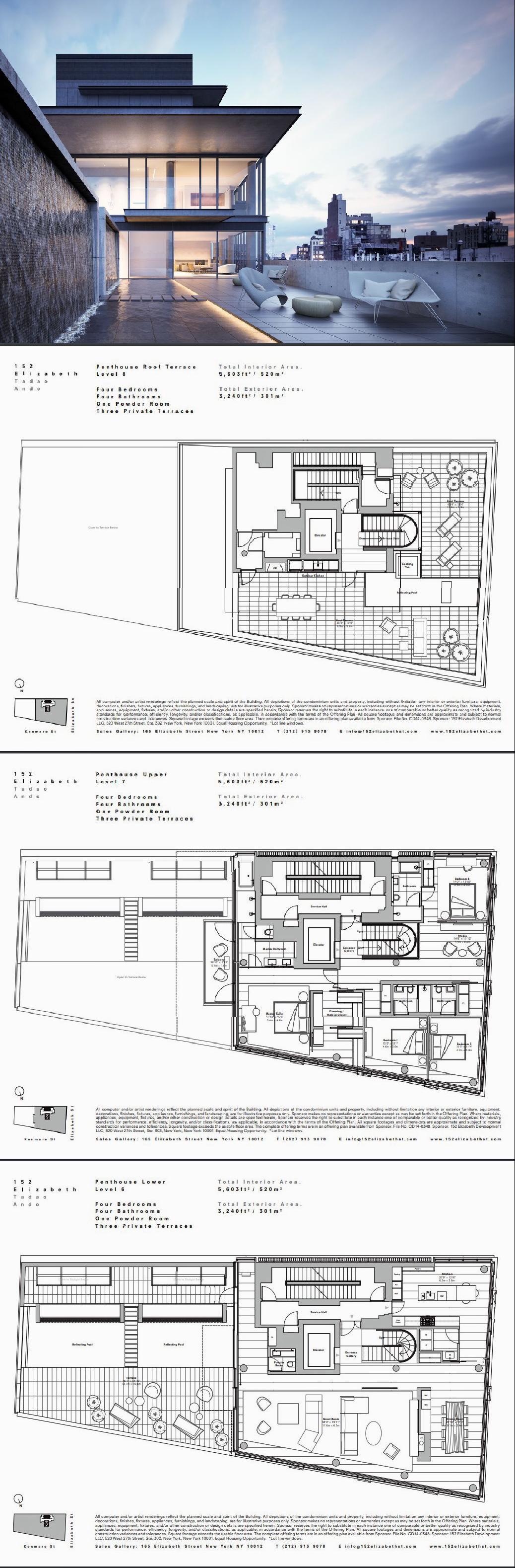 152 Elizabeth St Ph In Manhattan Manhattan Streeteasy Floor Plans Pent House Theatrical Scenery