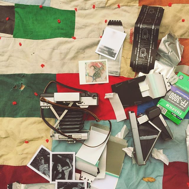 by hulaseventy: best of messes, prep for @polaroidweek, which starts tomorrow! #longliveinstantfilm