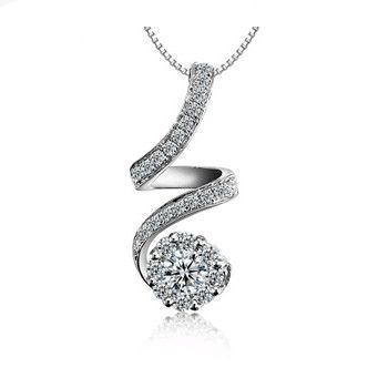 Find more pendant necklaces information about ladies necklace find more pendant necklaces information about ladies necklace pendants unique design twisted necklace with austrian zircon 3 layer platinum necklace on78 aloadofball Choice Image