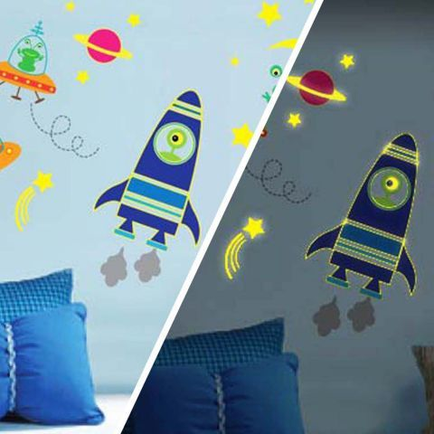 Walplus Rocket Night And Day Wall Sticker Collection U2013 Next Day Delivery  Walplus Rocket Night And Part 69