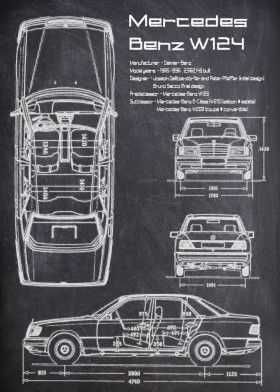 Mercedes Benz W124 | Displate thumbnail