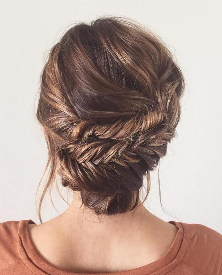 Fishtail Hairstyle Adorable 60 Updos For Thin Hair That Score Maximum Style Point  Fishtail