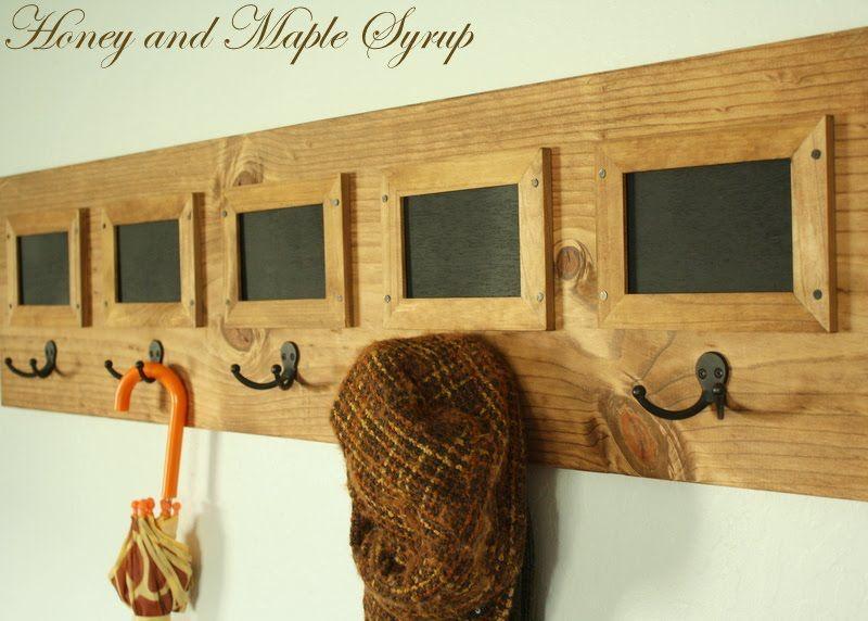 DIY Coat Rack + Message Board | Home Decor - mostly DIY | Pinterest ...