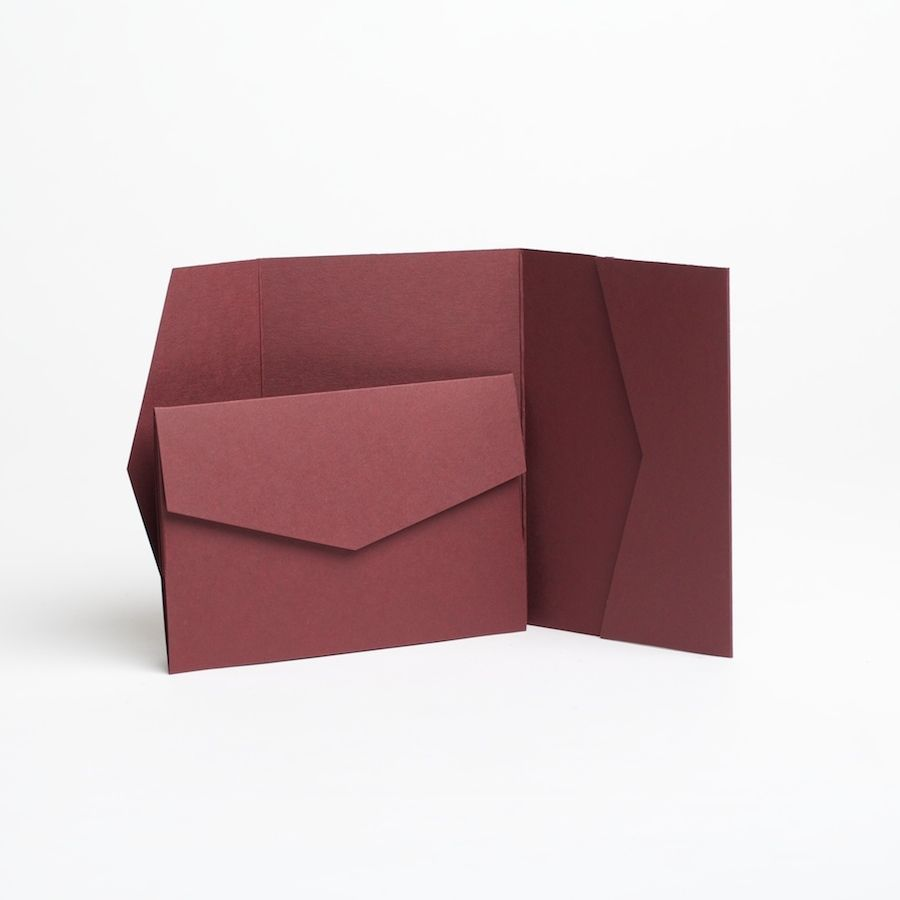 Other Paper Crafts 183243: Burgundy Pocketfold Invitations With ...