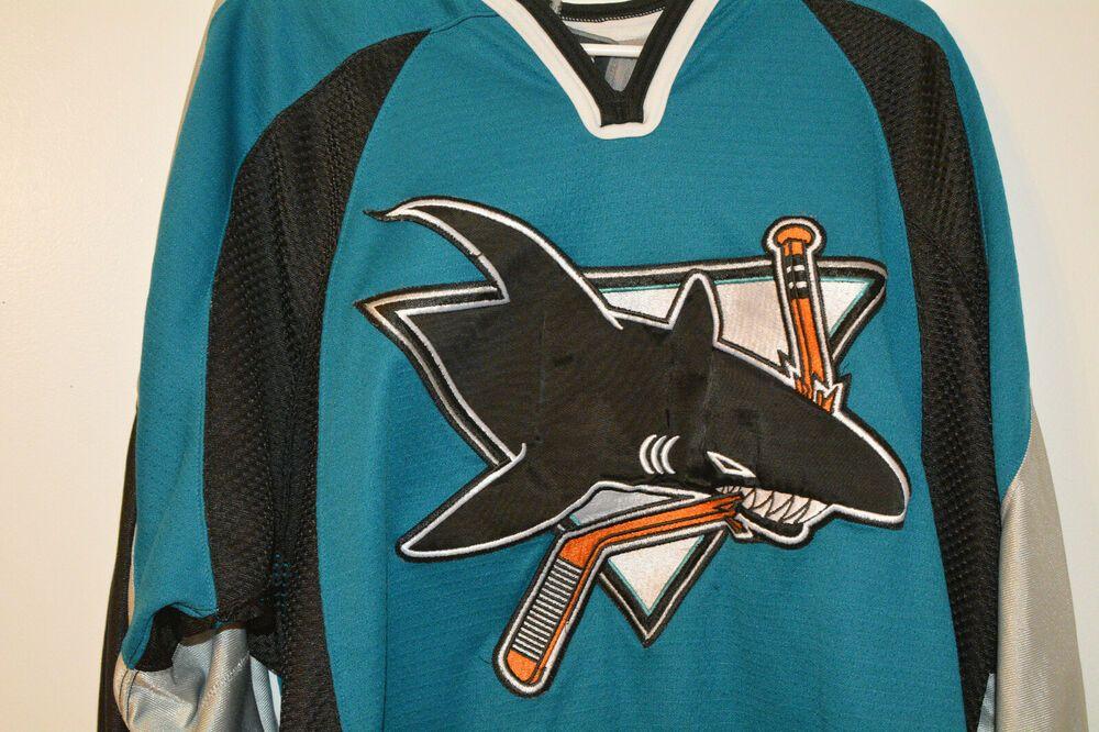 newest collection 8a5d8 8e302 eBay Ad) San Jose Sharks Vintage Nike Hockey Jersey M Medium ...