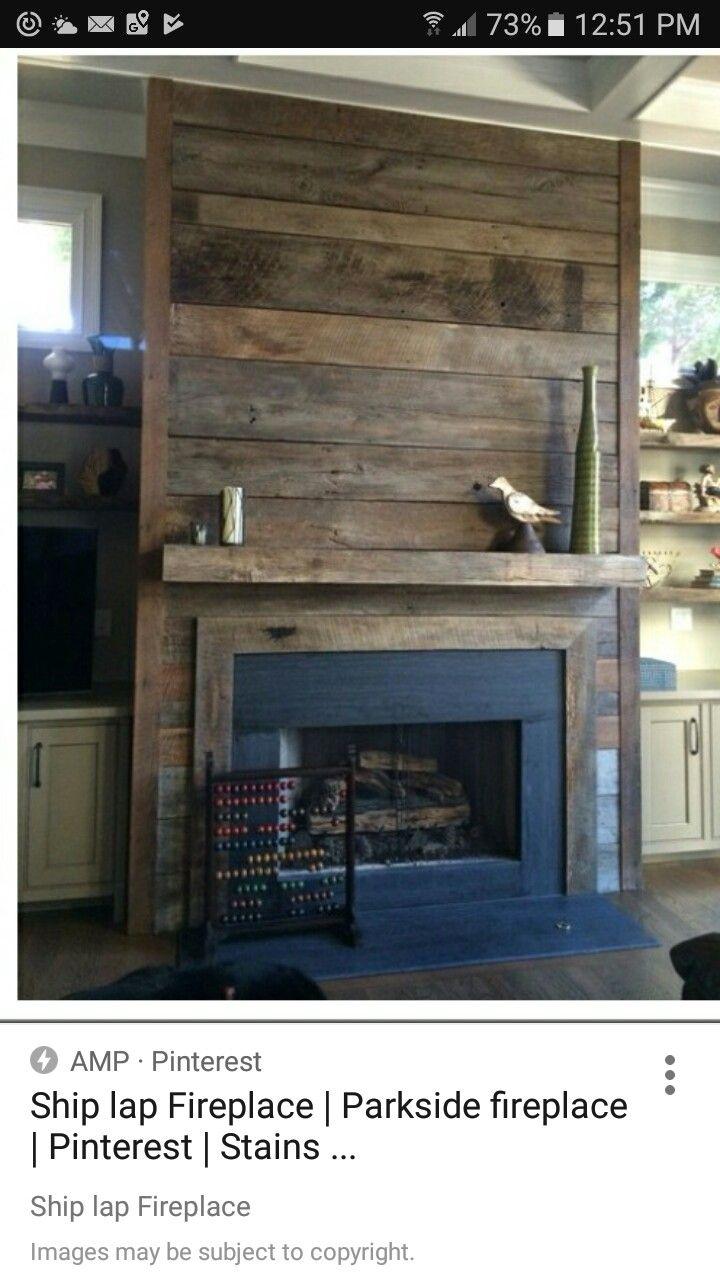 ship lath fireplace fireplaces pinterest stove fireplace