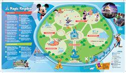Walt Disney World Maps for Kids | Pinterest | Theme park map, Walt ...