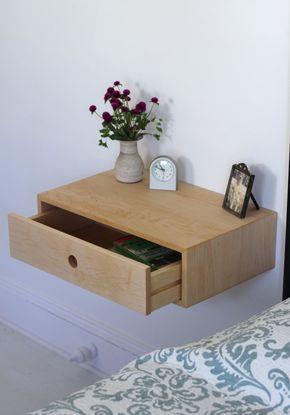 Nachttisch Mit Schublade Mid Century Modern Nachttisch Schweben