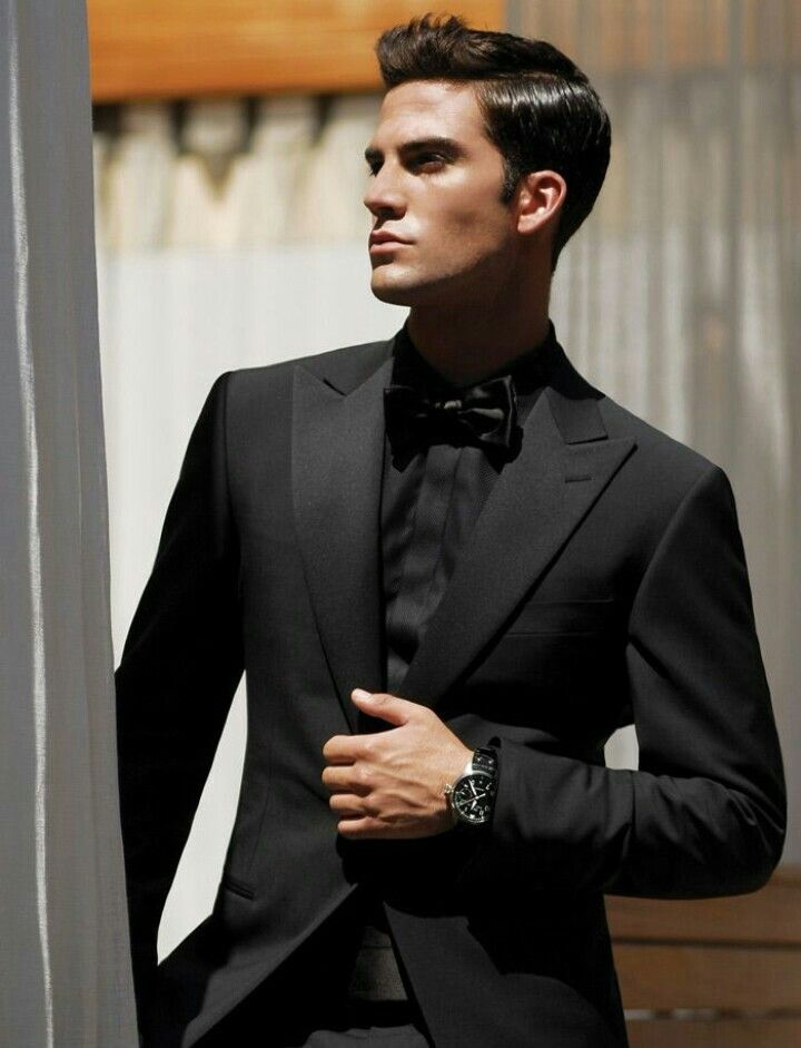 All black sleek men's suit for prom. | Junior Prom™ | Pinterest