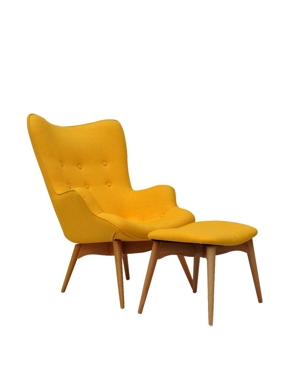 Best International Design Usa Huggy Chair Ottoman Set Yellow 640 x 480