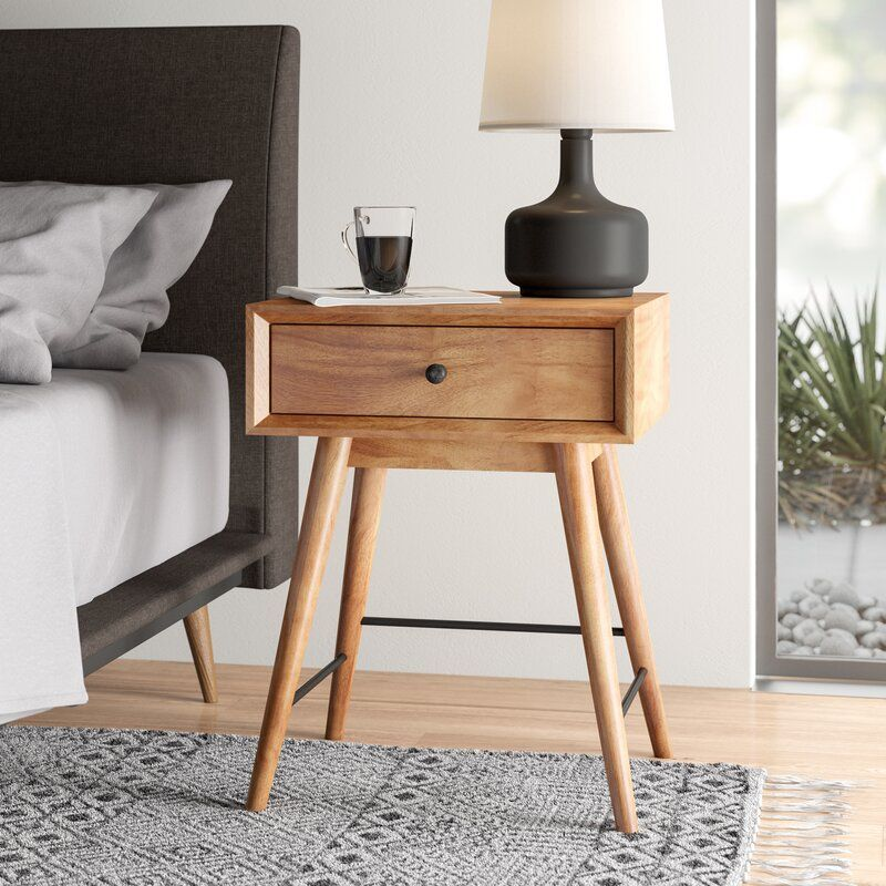 Mayer End Table With Storage In 2020 End Tables Solid Wood Dining Chairs End Tables With Storage