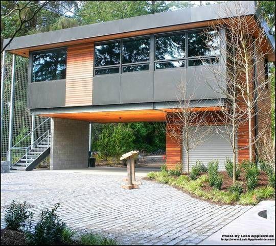 Contemporary Garages House On Stilts Modern House Design