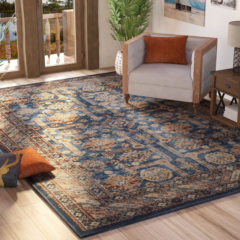 Isanotski Oriental Brown Blue Area Rug In 2020 Area Rugs Blue Area Rugs Brown And Blue Living Room